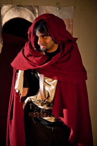 Jai Sahai as Spango Garnetkiller in Impact Theatre's production of Of Dice and Men, by Cameron McNary