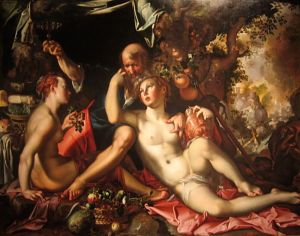 """I'm not even getting into Lot and his daughters. YOU'RE WELCOME. (Painting by Joachim Wtewael, 1595, entitled """"Lot and his Daughters."""""""