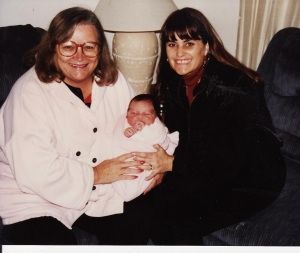 My mother, Charlene, and my newborn niece, Bayley, 1994.