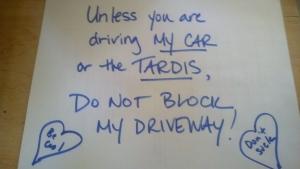 drivewaysign.tardis