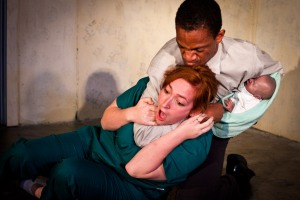 Reggie White and Cassie Rosenbrock in Titus Andronicus. Photo by Cheshire Isaacs. Violence by Dave Maier.