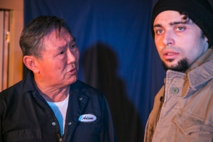 Dennis Yen as Adam and Miyaka Cochrane as Orlando. Photo by Cheshire Isaacs. 2013.
