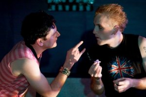 Tim Redmond as Oberon and Pete Caslavka as Puck. Photo by Cheshire Isaacs. 2009.