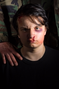 Jonah McClellan in what will eventually be our Troilus and Cressida poster image. Photo by Cheshire Isaacs.