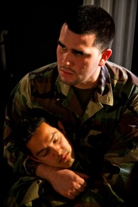Carlos Martinez and Vince Rodriguez in Titus Andronicus. Photo by Cheshire Isaacs. 2012.