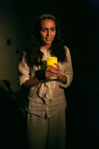 Arisa Bega in Monica Byrne's What Every Girl Should Know at Impact Theatre. Photo by Cheshire Isaacs.