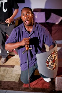 "Jonathon Brooks as Jason in Impact's production of ""Of Dice and Men."""