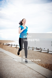 If there's one thing the Lean In/Getty collection has taught me, it's that photographers love to take pictures of young white women running. It's like CATNIP to them.