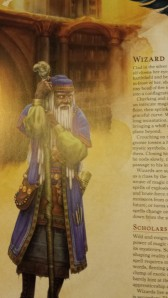 This is the first illustration on the Wizard class profile.