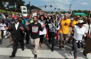 Ferguson, August 11. Photo by Robert Cohen, AP.