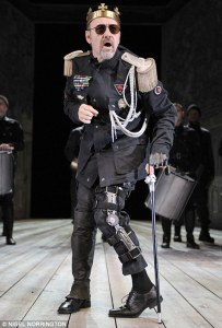 Kevin Spacey as Richard III at the Old Vic in London. Photo by Nigel Norrington.