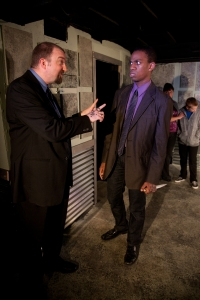 Lord Capulet (Jon Nagel) and his nephew Tybalt (Reggie D. White) in Impact's production of Romeo and Juliet. Photo by Cheshire Isaacs.