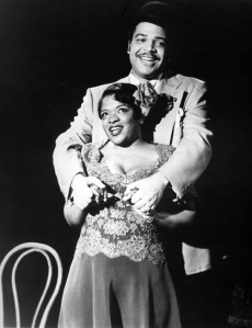 Nell Carter and Ken Page in the original Broadway production of Ain't Misbehaving, 1978. Photo by Bill Evans.