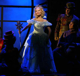 Kristin Chenoweth as Glinda in Wicked. Photo by Joan Marcus.