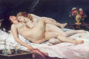 Le Sommeil, Gustave Courbet, 1866. Turning middle schoolers into art lovers for 150 years.