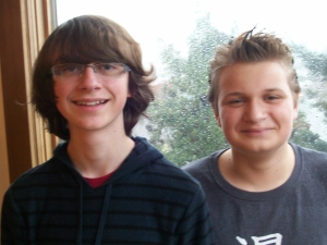Jacob and Jonah, December 2012