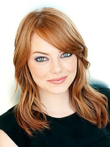 American actress Emma Stone. I pulled both these headshots from their imdb pages, and neither were credited. If anyone has photog info, let me know and I will update.
