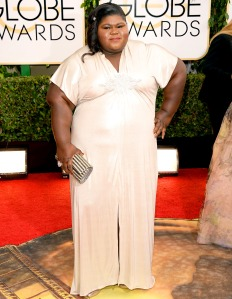 Actress Gabourey Sidibe at the Golden Globes in 2014. ( Jason Merritt/Getty Images)