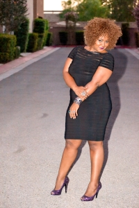 Marie Denee, founder and editor of The Curvy Fashionista-- curvyfashionista.com. (source: Glamour.com)