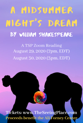 Pictured: The poster for the show depicts the silhouette of two women, facing each other closely, with a rainbow-colored rose covering where their lips meet.